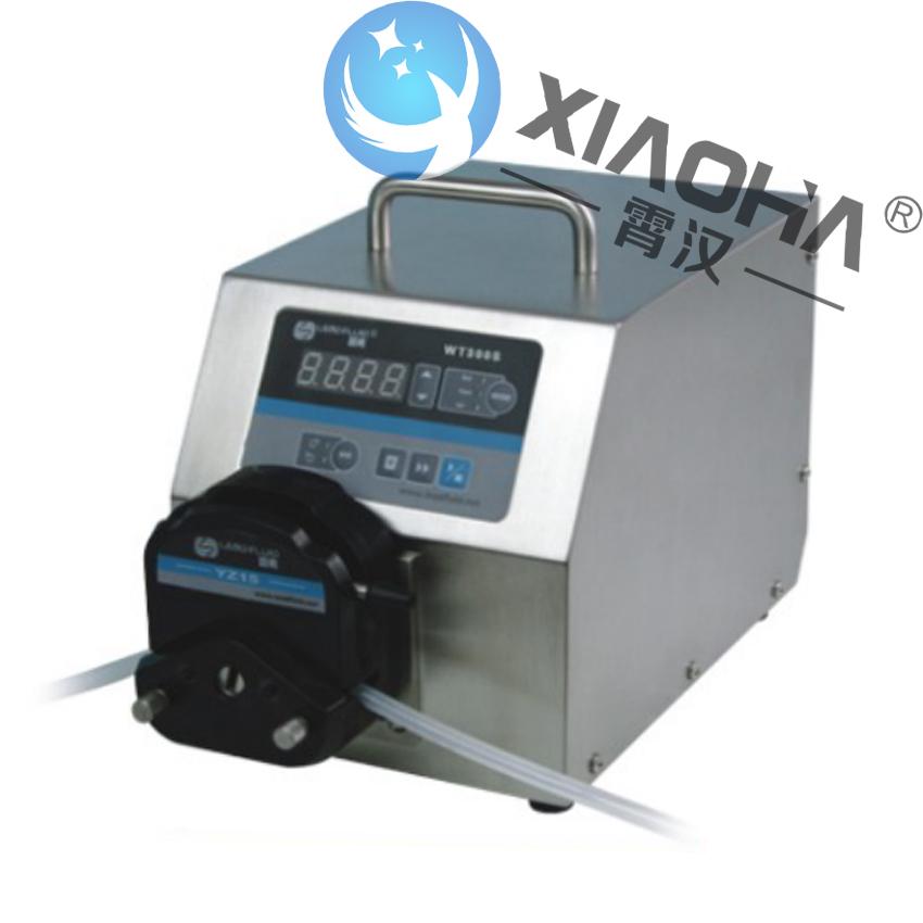 WT300S/YZ泵头 基本调速型蠕动泵 可实现外部脚踏开关控制起停或时间分配器控制起停,实现简易分配灌装功能