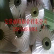 工业清洗尼龙丝毛刷辊白色黑色尼龙丝毛刷滚筒水果清洗机毛刷辊批发