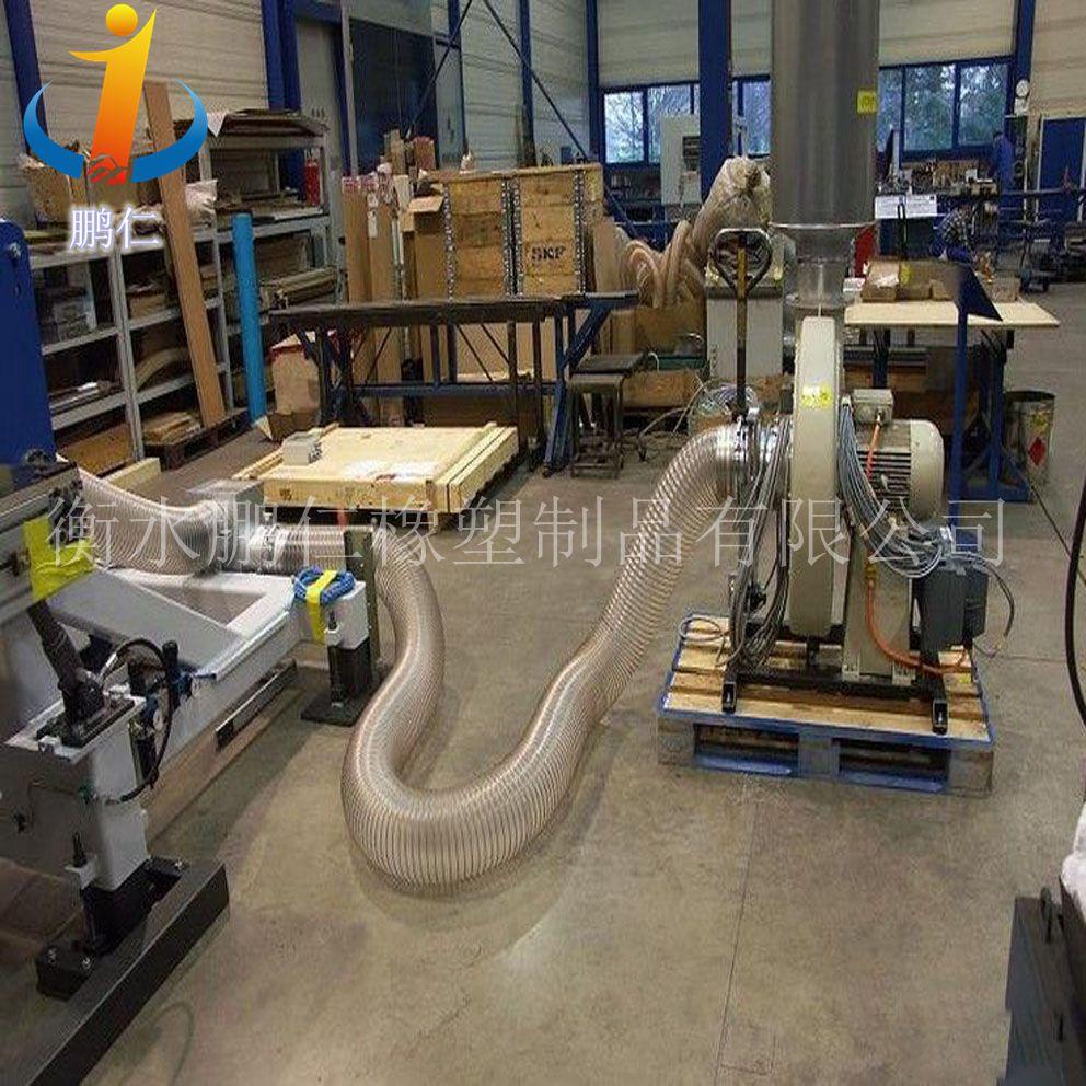 PU聚氨酯风管厂家生产   镀铜钢丝波纹软管报价    透明伸缩吸尘管批发 (衡水鹏仁)   PU聚氨酯风管
