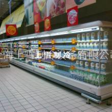 廠家直銷超市飲料冷風柜 定做酒水冷藏風幕柜 便利店乳制品展示柜圖片
