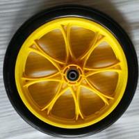 厂家直销16寸PU发泡土豆覆膜机轮子 16寸覆膜机、工具车实心轮