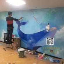 甫田工装手绘壁画墙体彩绘墙绘3D立体墙画,文化墙餐厅酒店会所学校办公室手绘壁画墙绘图片