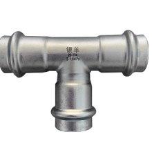 江苏薄壁不锈钢水管-不锈钢双卡压水管管件-双卡压异径三通