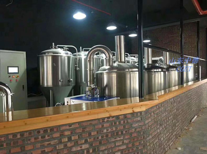 500L自酿啤酒设备\山东中德