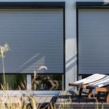 兴发系统铝质卷帘遮阳电动铝合金卷帘门窗