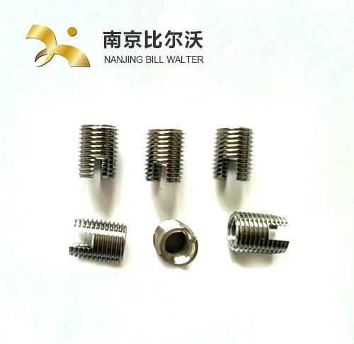 316不锈钢一字槽自攻螺套 不锈钢螺套 碳钢镀锌螺套