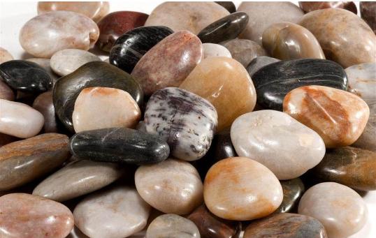 鹅卵石-五彩石-园林盆景五彩石