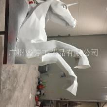 玻璃钢卡通动物切面马头广州源头厂家定制图片