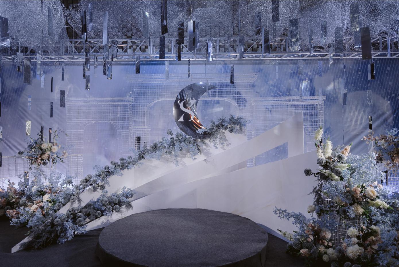 【哈尼婚礼】蓝色梦幻婚礼一站式服务含人员无二消