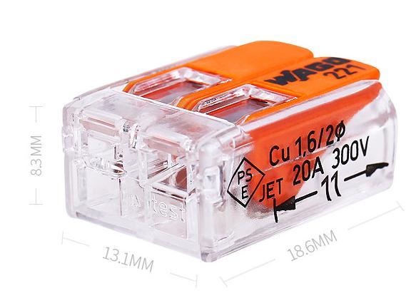 221-413系列万能连接器,221系列布线连接器,透明大电流连接器