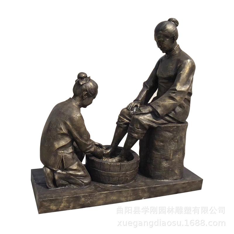 优质玻璃钢人物仿铜雕塑批发价