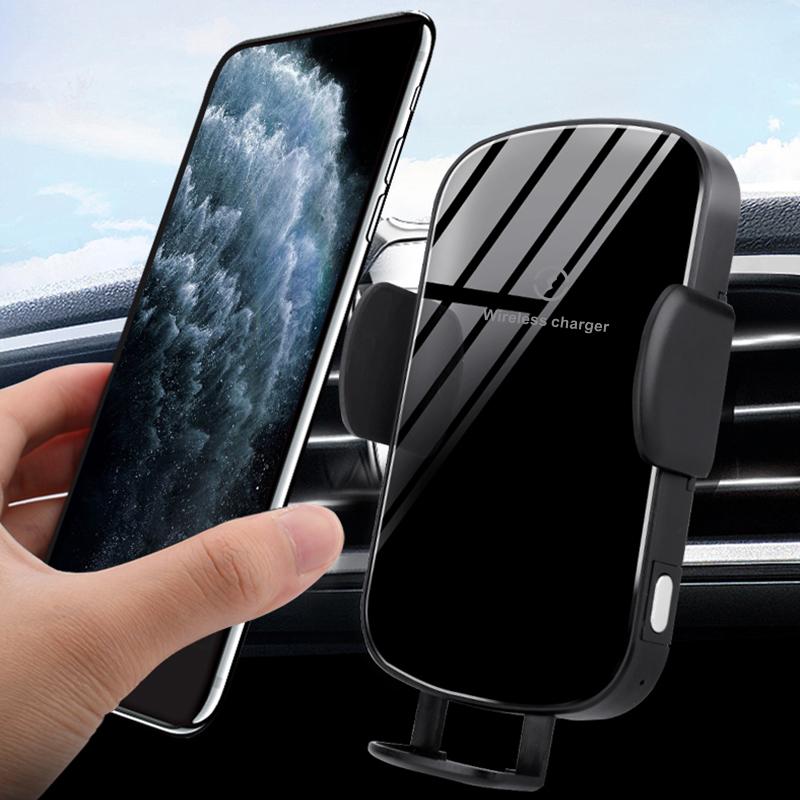 车载无线充电器 触摸全自动车载支架适用 苹果手机无线充电器快充 手机无线快充厂家