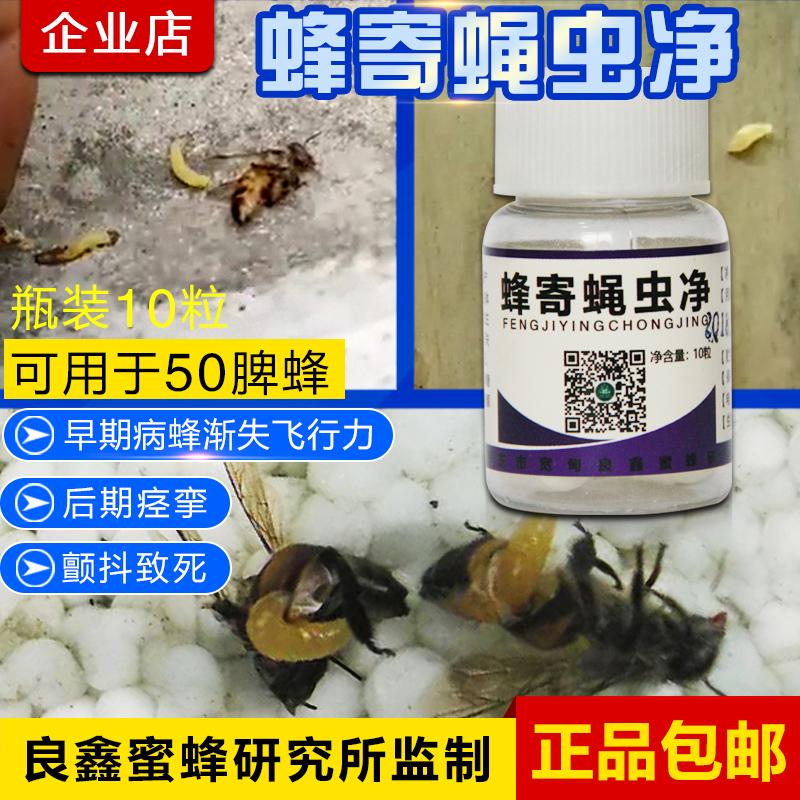 蜂寄蝇虫净蜂寄蝇蛆净 蜜蜂爬蜂病麻痹病可能是蜜蜂体内有了寄生蝇幼虫