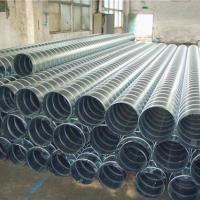 成都螺旋排烟风管 工业通风管镀锌可定制耐用优惠通风除尘不锈钢螺旋管