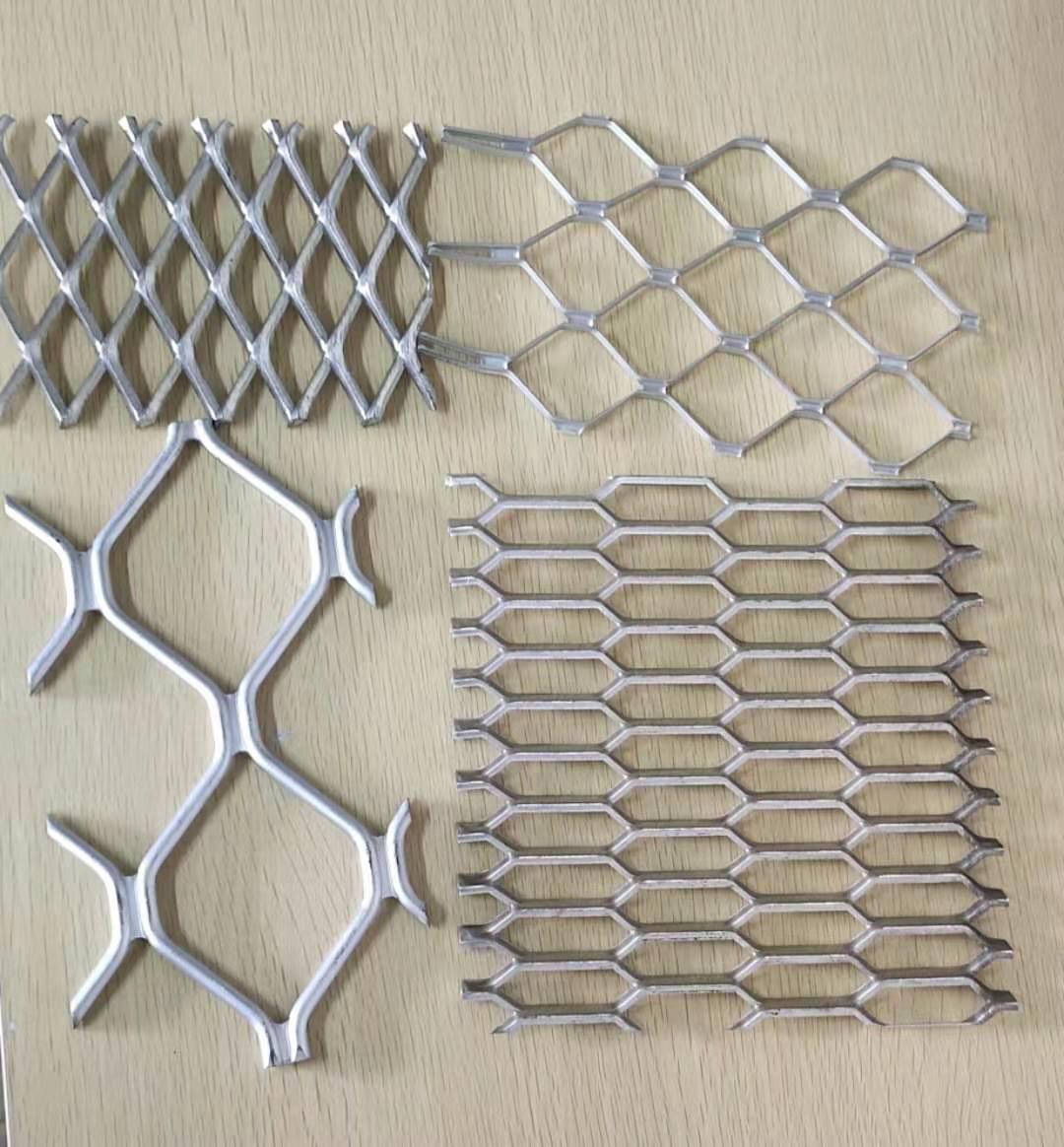 广州宏锐筛网现货金属板铝网  铝菱形美格网 防盗窗铝网