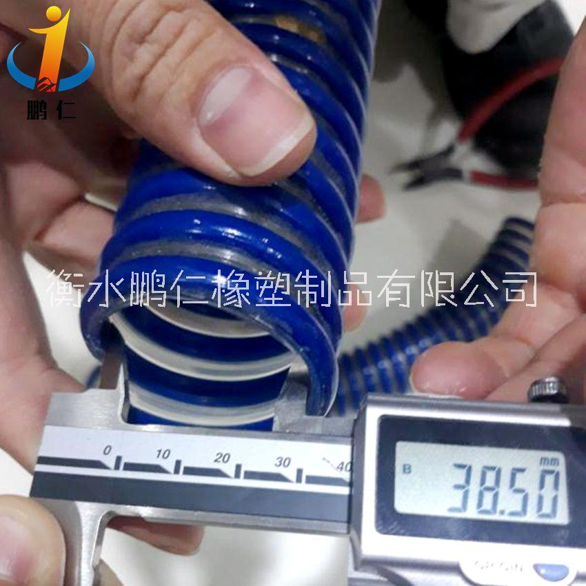 pvc牛筋增强软管厂家  pvc螺旋软管工厂价格     PVC 吸水吸砂软管供应商  (衡水鹏仁)