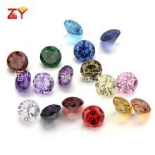 6mm氧化锆彩色椭圆形/蛋形 锆石/仿钻批发 形状颜色齐全梧州人造宝石