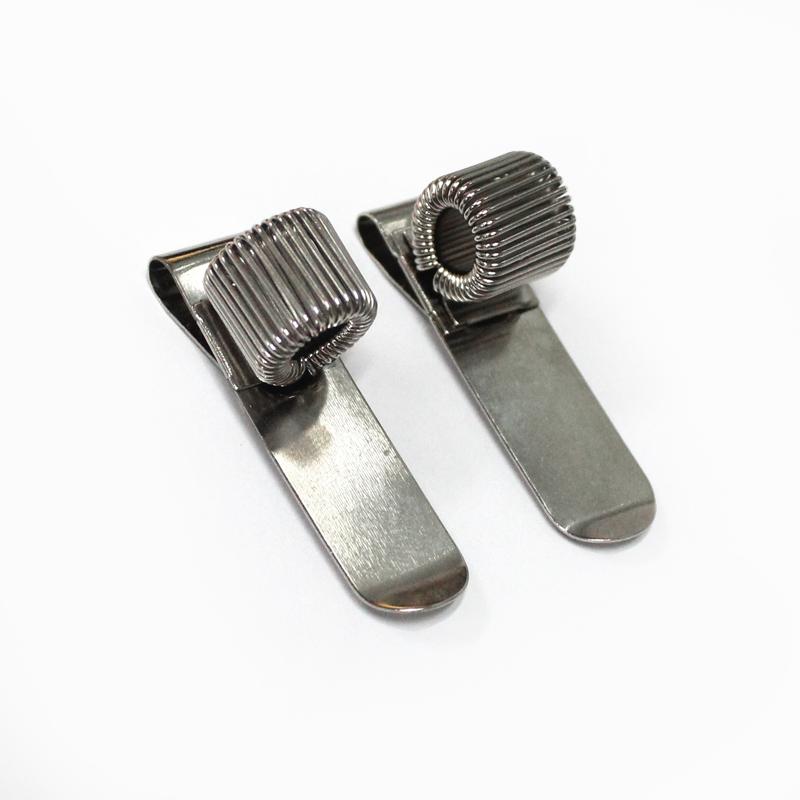 工厂直销单孔挂钩笔夹金属弹簧笔插定制彩色便携夹子可加LOGO