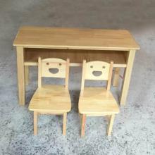 儿童木质桌椅 儿童松橡木学习桌椅 幼儿园设备供应