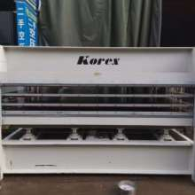 闲置二手木工机械Korex多层热压机人造板批发