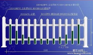 PVC护栏、围栏、花园围栏、草坪护栏
