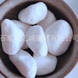 河北亿诚厂家供应  白色机制鹅卵石 花盆鱼缸装饰雨花石