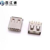 鼠标插孔    USB2.0母座   沉板式90度插板   直脚DIP卷边-直边