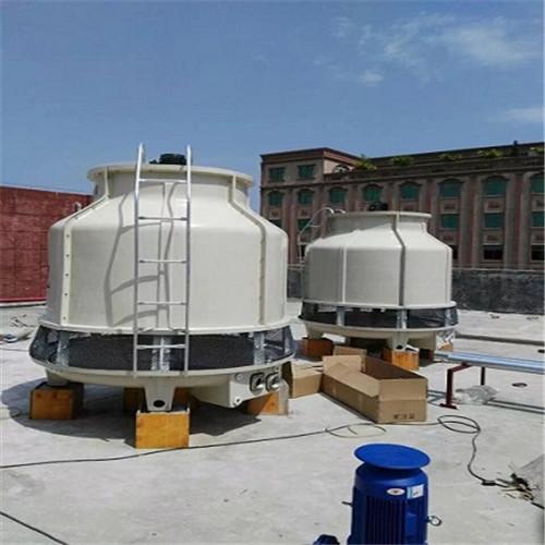 80T工业冷却塔圆形玻璃钢冷却塔直供,冷却塔转头、洒水管配件