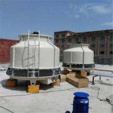 50T工业冷却塔圆形玻璃钢冷却塔厂家直供,冷却塔风机、转头配件齐全图片