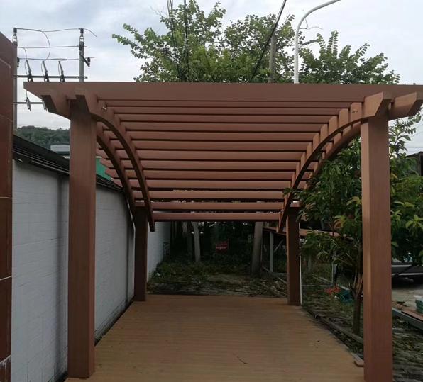 安徽昕诺木塑廊架厂家直销 走廊 木塑复合材料及其制品 可定制生产