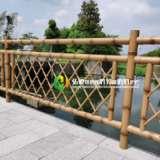上海枯黄仿竹护栏厂家直销定做批发价格