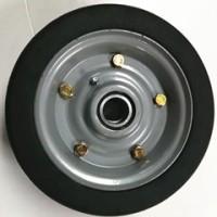 萱德直销 8寸橡胶实心轮子 宽75MM 10寸实心轮 高载重实心轮