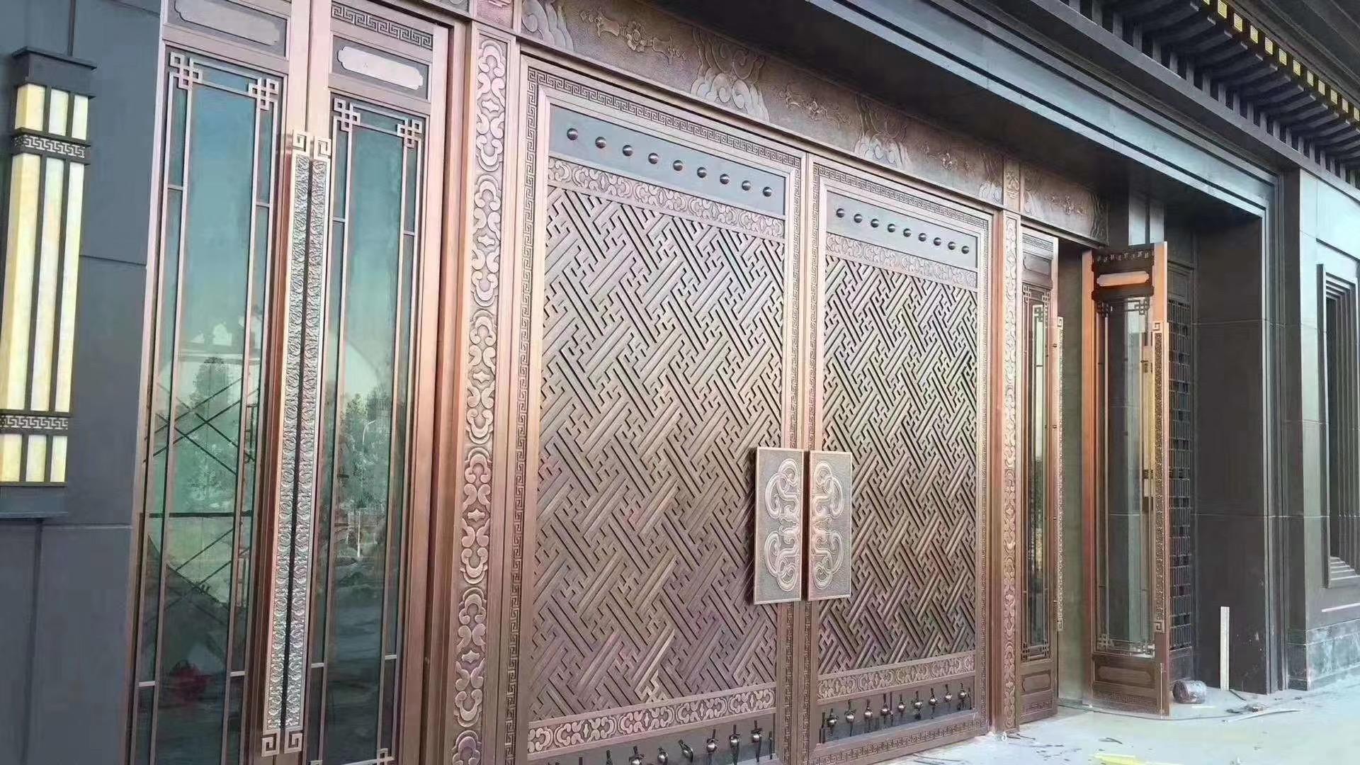 广东佛山别墅户外不锈钢屏风-仿古铜、红古铜、K金、玫瑰金各色定制安装