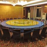 25人位酒店包房电动大圆桌 电动旋转餐桌