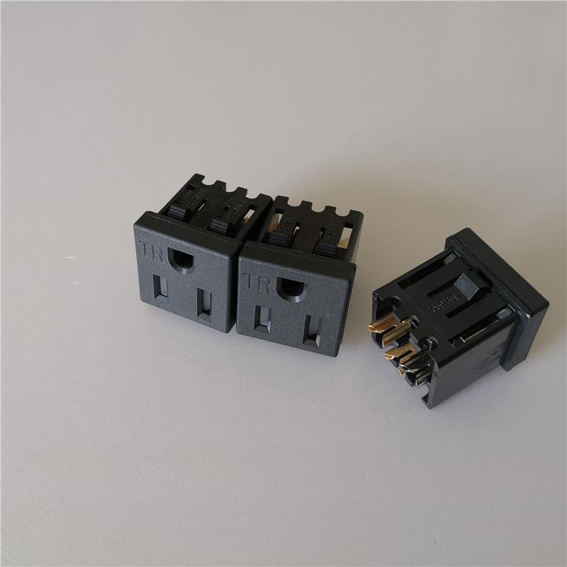 厂家直销美式TR插座.美规插座.15A TR美式母座