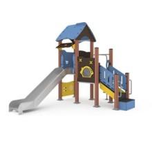 组合滑梯 中青游乐威海户外不锈钢组合滑梯 儿童滑滑梯设备 厂家直销图片