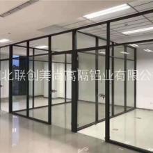 武汉办公室百叶玻璃隔断 办公室玻璃高隔墙哪家好(湖北联创美尚高隔铝业有限公司)图片