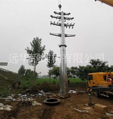 电力输电钢杆图片/电力输电钢杆样板图 (3)