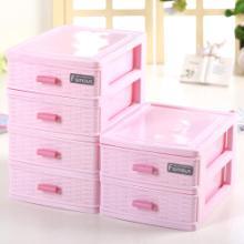 网红化妆收纳盒 整理桌面防尘家用口红大容量 梳妆台护肤品置物架图片