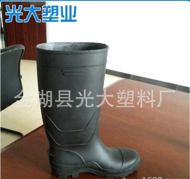 黑色中筒劳保耐酸碱雨鞋销售