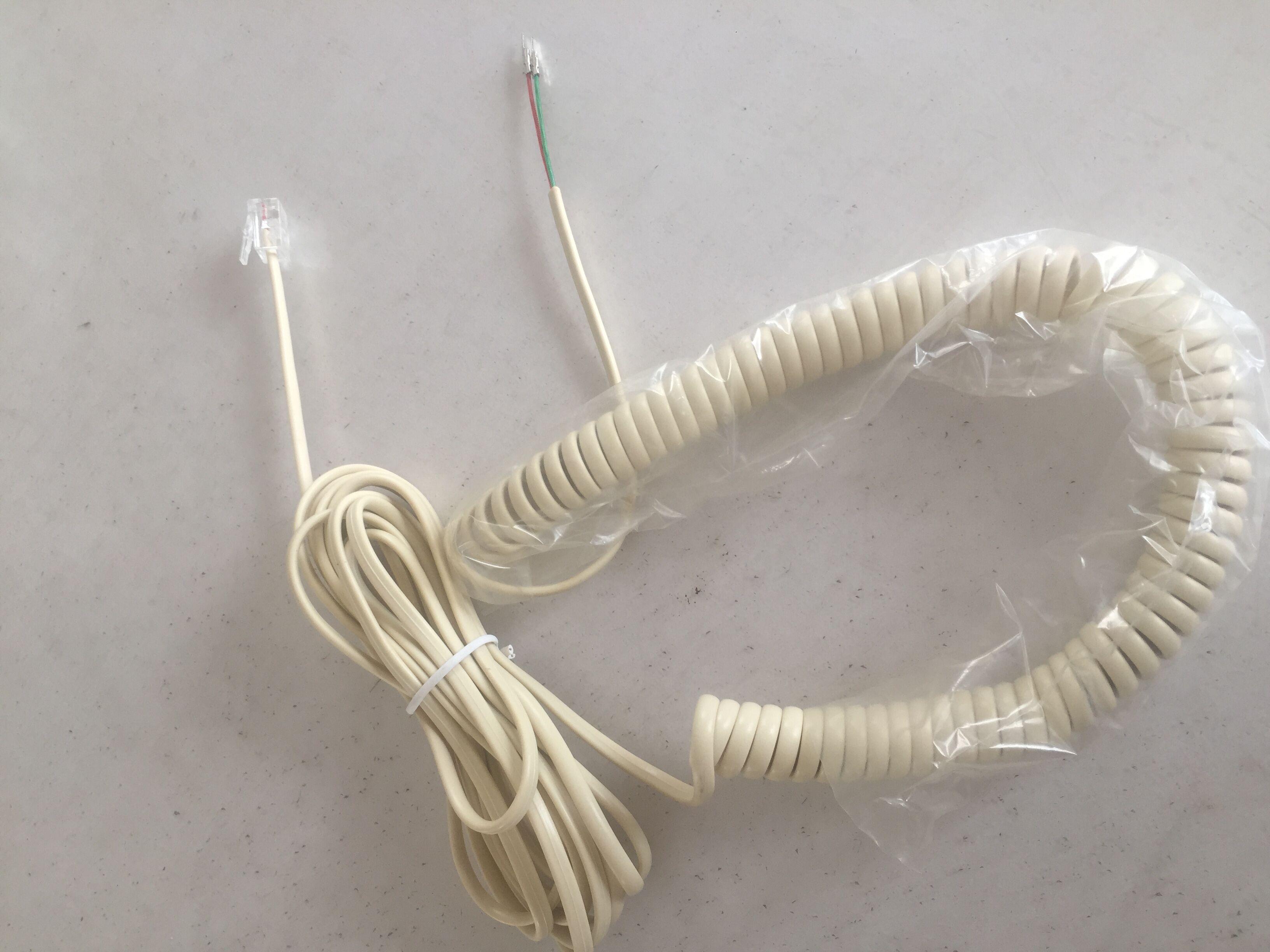 米黄曲直连接线电话线销售