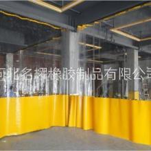 天津打磨房防尘车间设备透明防静电推拉软帘图片