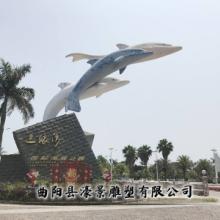 不锈钢海豚雕塑定制大型户外游乐园广场不锈钢雕塑品园林公园景观图片
